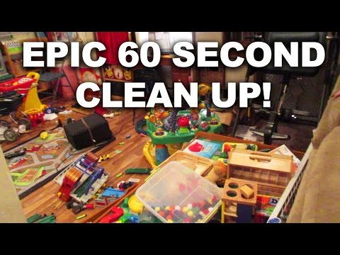 HOW TO CLEAN THE BASEMENT IN 60 SECONDS!