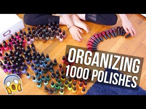Organizing ALL My Nail Polishes (in Rainbow Order!)|| KELLI MARISSA