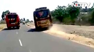 Video Of 2 Racing Buses In Coimbatore Goes Viral, Licences Of Drivers Suspended