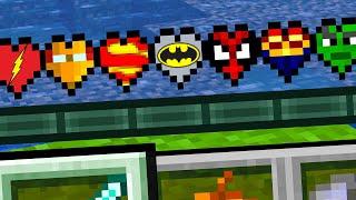 Minecraft But There's Custom SUPERHERO Hearts