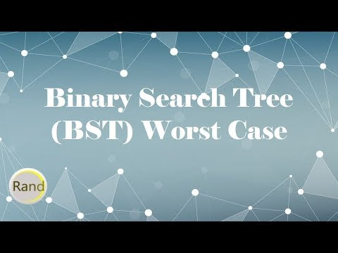Binary Search Tree (BST) Worst Case