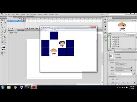 Tutorial game match in Adobe Flash CS6