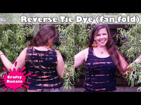 How to tie dye with bleach - Fan fold tutorial