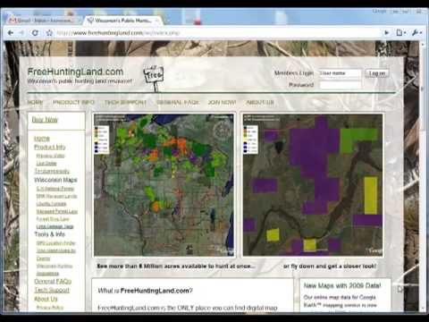 FreeHuntingLand.com - How to sign up and purchase our map products