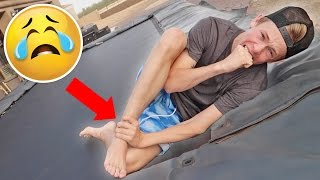 TRAMPOLINE ACCIDENT!!!