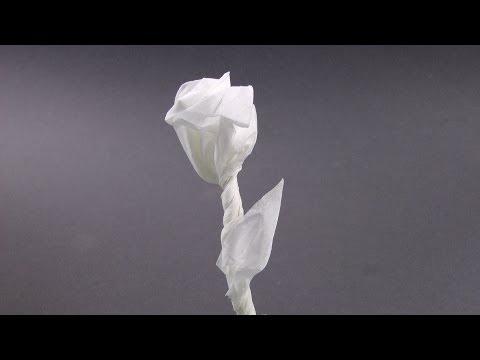 Napkin Rose for valentine's day - origami