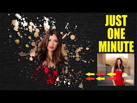 Coreldraw x7 Tutorial - How to Make Paint Effect Just One Minute best Tips by AS GRAPHICS