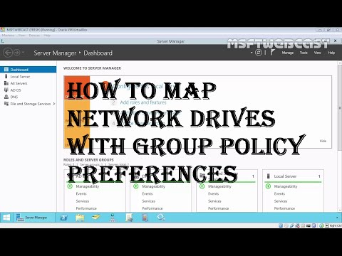 14. Map Network Drives with Group Policy Preferences (70-410) MCSA