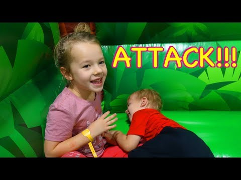 CRAZY Indoor BOUNCE HOUSE Play Park with Baby Adam For The First Time