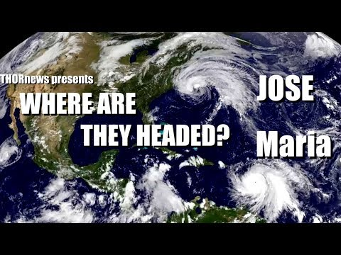 Where are Hurricane Maria & Jose headed?