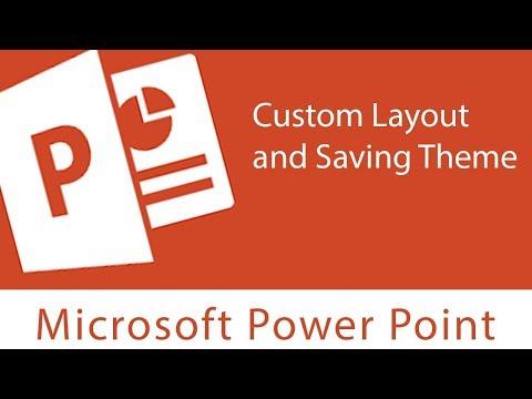 Slide Master - Custom Layout and Saving Theme 1