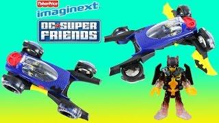 Imaginext Dc Super Friends Transforming Batmobile W/ Batman.  Transforms From A Batmobile To A Jet.