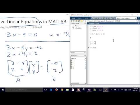 Solve Linear Equations with MATLAB