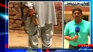 DG Khan by election, PML-N workers show weapon & interrupt polling process
