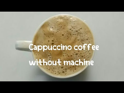 Beaten coffee at home / Homemade cappuccino without machine / Hot coffee recipe by Adiba Foodz India