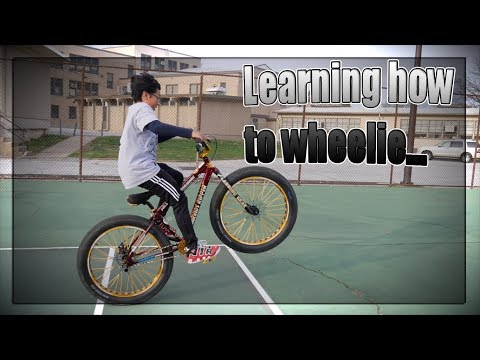 Learning how to wheelie...