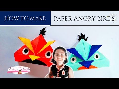 How to Make a Paper Angry Bird - Very Easy
