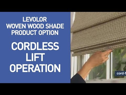 Levolor Bamboo Shades with Cordless Lift Demo