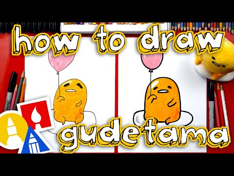 How To Draw Gudetama With A Balloon 🎈