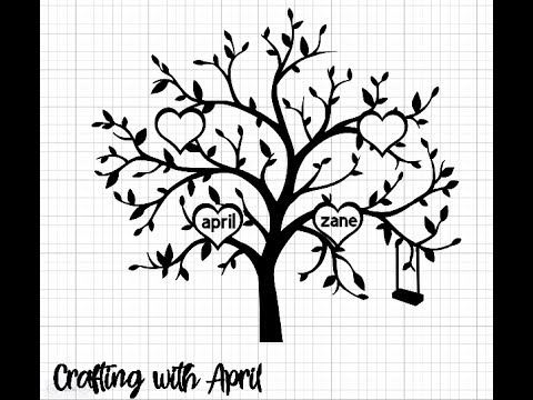 Crafting With April - Creating a Family Tree for Vinyl cut out