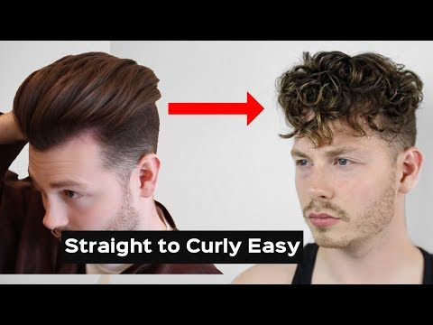 HOW TO GET CURLY HAIR EASY TUTORIAL - STRAIGHT TO CURLY PERMANENTLY 2018