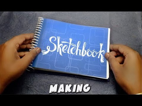 How To Make Sketchbook Diary DIY | Travel Journal Making DIY
