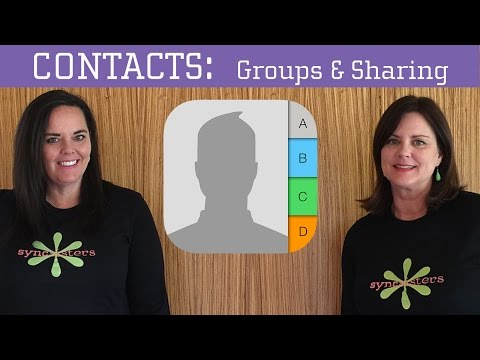 iPhone / iPad Contacts - Groups, Sharing & AirDrop