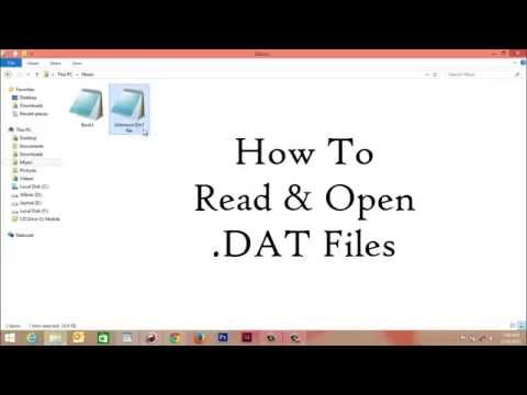 How To Open .DAT File In Windows