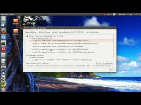 Install video card driver in Ubuntu 16.04