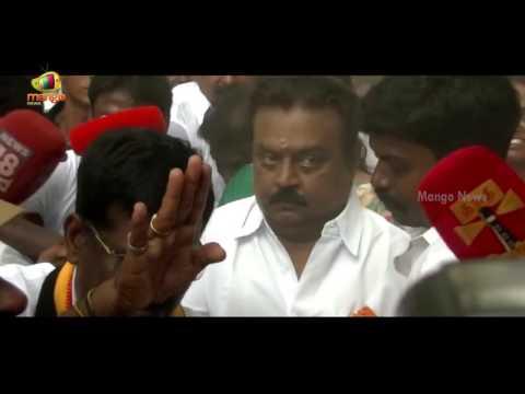 Captain Vijayakanth blaze on Media At Polling Booth | Tamil Nadu Election 2016 | Mango News