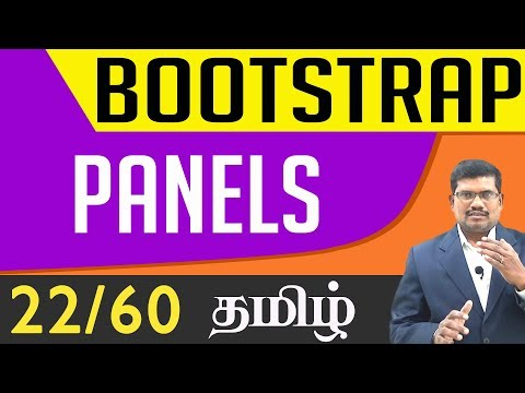 #22 Panels || Bootstrap In Tamil (In Tamil)