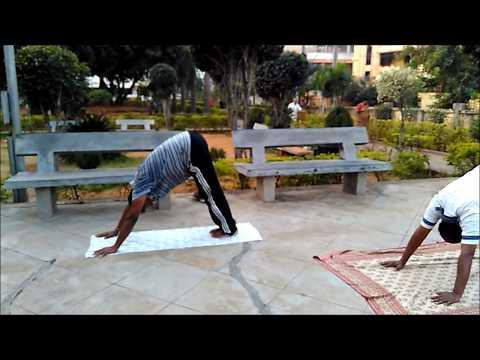 Surya Namaskar Right Postures with Surya Mantra - Yoga Salutation