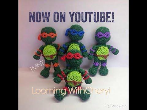 Rainbow Loom Teenage Mutant Ninja Turtles - 1 of 3 - Amigurumi TMNT Hook Only Лумигуруми