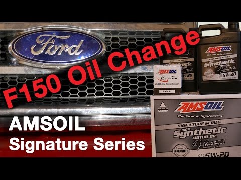 Ford F150 Oil Change AMSOIL Signature Series 5W-20 Synthetic Oil Ea011 Oil filter