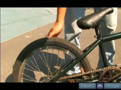 BMX Bicycle Custom Maintenance : Tire Pressure & Safety Tips for BMX Tricks