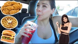 24HRS OF EATING LIKE KYLIE JENNER  | LOS ANGELES CALIFORNIA FOOD