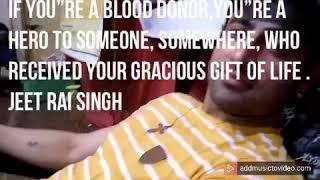 Jeet Raidutt , Blood Donate
