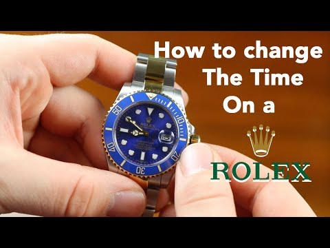 How to Change the Time on a Rolex Submariner 4k