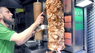 London Street Food. Turkish Kebab of  Chicken and Lamb Seen in Camden Market
