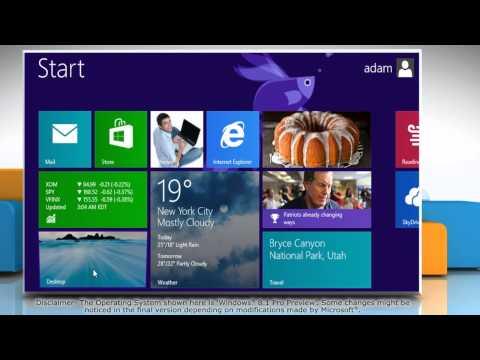 How to change Windows® 8.1 desktop background
