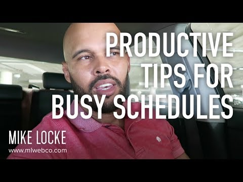 Productive Tips for Busy Schedules - UI UX Design Projects