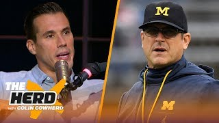 Brady Quinn joins Colin to talk Notre Dame's win, OU and Jim Harbaugh's future | CFB | THE HERD