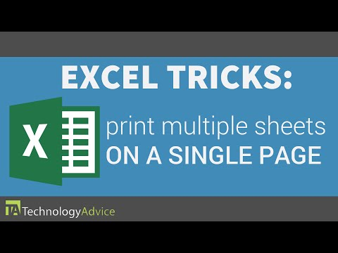 Excel Tricks - Print Multiple Sheets on a Single Page