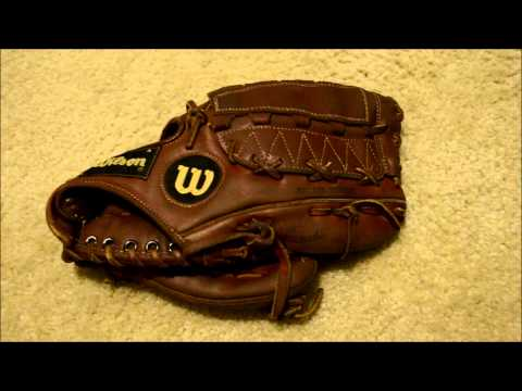 Wilson A2000 L Baseball Glove Relace - Before and After Glove Repair