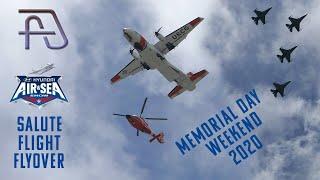 Memorial Day 2020 Salute Flight Flyover at Broward General Hospital in Florida
