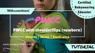 Stretchy wrap with a newborn - pretied & shoulderflips!