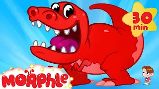 My Pet T-Rex Goes To School - My Magic Pet Morphle Dinosaur Video for Kids!
