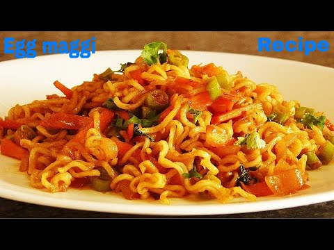 अंडा मैगी बनाने की रेसिपी, How to cook Egg Maggi in Hindi (with English subtitle).