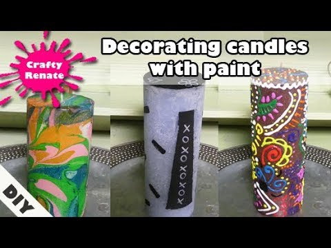 How to decorate candles with paint