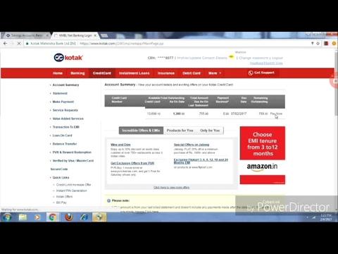 Kotak Mahindra Bank Ki Internet Banking Site Se Credit Card Ki Payment Kaise Kare? जाने हिंदी में